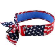 Ergodyne Chill-Its® Evap. Cooling Bandana W/Cooling Towel, Tie, Star & Stripes, 12561 - Pkg Qty 6