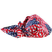 Ergodyne Chill-Its® Evap. Cooling Triangle Hat w/ Built-In Cooling Towel, Stars&Stripes,12581 - Pkg Qty 6