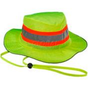 Ergodyne Chill-Its® Evap. Class Headwear Hi-Vis Ranger Hat w/ Built-In Cooling Towel, Lime, S/M