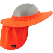 Ergodyne® Chill-Its® 6660 Hard Hat Brim with Shade, Orange, One Size