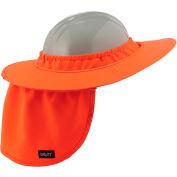 Ergodyne® Chill-Its® 6660 Hard Hat Brim with Shade, Orange, One Size