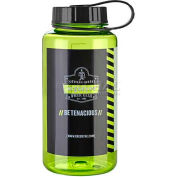 Ergodyne Chill-Its® Plastic Wide Mouth Water Bottle, 1 Liter, Lime, 13153