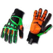 Ergodyne® ProFlex® 925F(x)WP Thermal Dorsal Impact-Reducing Gloves, Lime, 3XL