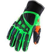 Ergodyne® ProFlex® Thermal Dorsal Impact-Reducing Gloves W/OutDry®, 3XL, Lime, 16307