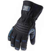 Ergodyne® ProFlex® Thermal Waterproof Gauntlet Gloves W/OutDry®, Small, Black, 16472