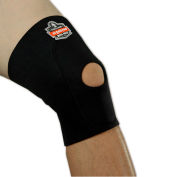 Ergodyne® 615 Knee Sleeve; Open Patella/Anterior Pad, Black, XL