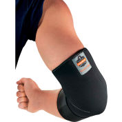 Ergodyne® Proflex® 655 Neoprene Elbow Sleeve with Strap, Black, Small