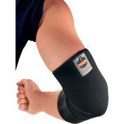 Ergodyne® 655 Neoprene Elbow Sleeve with Strap, Black, 2XL