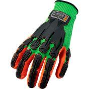 Ergodyne® ProFlex® 920 Nitrile-Dipped Dorsal Impact-Reducing Gloves, Lime, XL, 1 Pair