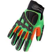 Ergodyne® ProFlex® Light Dorsal Impact-Reducing Gloves, 3XL, Lime, 17057
