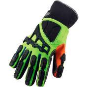 Ergodyne® ProFlex® Thermal Waterproof Cut, Puncture & DIR Gloves, XL, Lime, 17085