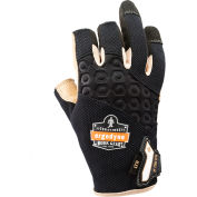 Ergodyne® ProFlex® 720LTR Heavy-Duty Leather-Reinforced Framing Glove, Black, Medium-17153