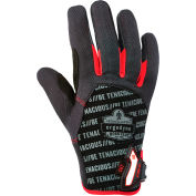Ergodyne® ProFlex® 812CR Utility + Cut Resistance Glove, Black/Red, Large, 17184