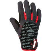 Ergodyne® ProFlex® 812CR Utility + Cut Resistance Glove, Black/Red, Large, 17184