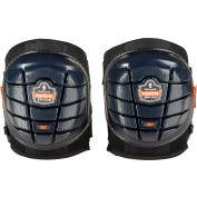 Ergodyne® ProFlex® 357 Lightweight Gel Knee Pads, Short Cap, Black, 18457
