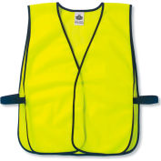 Ergodyne® GloWear® 8010HL Non-Certified Economy Vest, Lime, One Size - Pkg Qty 24