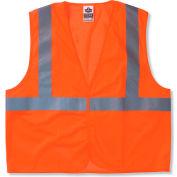Ergodyne® GloWear® 8210HL Class 2 Economy Vest, Orange, L/XL