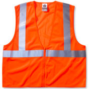 Ergodyne® GloWear® 8210Z Class 2 Economy Vest, Orange, L/XL
