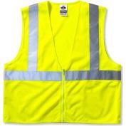 Ergodyne® GloWear® 8210Z Class 2 Economy Vest, Lime, 2XL/3XL