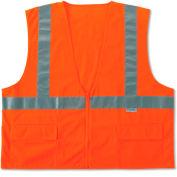 Ergodyne® GloWear® 8225Z Class 2 Standard Vest, Orange, L/XL