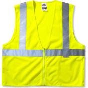Ergodyne® GloWear® 8225Z Class 2 Standard Vest, Lime, S/M