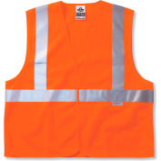 Ergodyne® GloWear® 8225HL Class 2 Standard Vest, Orange, S/M