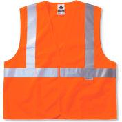Ergodyne® GloWear® 8225HL Class 2 Standard Vest, Orange, 2XL/3XL
