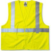 Ergodyne® GloWear® 8225HL Class 2 Standard Vest, Lime, 2XL/3XL