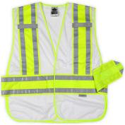Ergodyne® GloWear® 8240HL Class 2 Two-Tone Expandable Vest, White, M/L