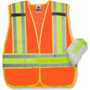 Ergodyne® GloWear® 8240HL Class 2 Two-Tone Expandable Vest, Orange, XL/2XL
