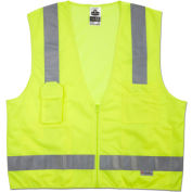 Ergodyne® GloWear® 8250Z Class 2 Surveyors Vest, Lime, L/XL