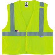 Ergodyne® GloWear® 8260FRHL Class 2 FR Modacrylic Vest, Lime, 2XL/3XL