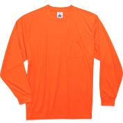 Ergodyne® GloWear® 8091 Non-Certified Long Sleeve T-Shirt, Orange, 2XL