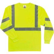 Ergodyne® GloWear® 8391 Class 3 Long Sleeve T-Shirt, Lime, M