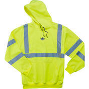 Ergodyne® GloWear® 8393 Class 3 Hooded Sweatshirt, Lime, XL