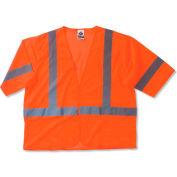 Ergodyne® GloWear® 8310HL Class 3 Economy Vest, Orange, L/XL