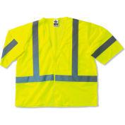 Ergodyne® GloWear® 8310HL Class 3 Economy Vest, Lime, 2XL/3XL