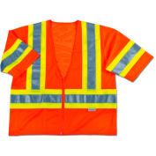 Ergodyne® GloWear® 8330Z Class 3 Two-Tone Vest, Orange, S/M