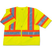 Ergodyne® GloWear® 8330Z Class 3 Two-Tone Vest, Lime, S/M