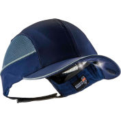 Ergodyne® Skullerz® 8960 Bump Cap W/LED Lighting Technology, Navy, Long Brim, One Size