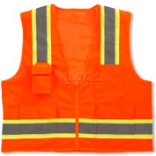 Ergodyne® GloWear® 8248Z Class 2 Two-Tone Surveyors Vest - Orange, 24065
