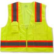 Ergodyne® GloWear® 8248Z Class 2 Two-Tone Surveyors Vest - Lime, 24073