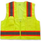 Ergodyne® GloWear® 8248Z Class 2 Two-Tone Surveyors Vest - Lime, 24075