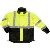 Ergodyne® GloWear® 8360 Class 2 Reversible Work Jacket, Black/Lime, 2XL