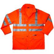 Ergodyne® GloWear® 8365 Class 3 Rain Jacket, Orange, 4XL