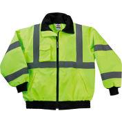 Ergodyne® GloWear® 8379 Class 3 Econo Bomber Jacket Case Pack, Lime, 2XL, 10/Pack