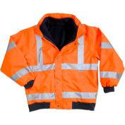 Ergodyne® GloWear® 8380 Class 3 Bomber Jacket, Orange, 4XL
