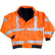 Ergodyne® GloWear® 8380 Class 3 Bomber Jacket, Orange, 5XL