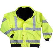 Ergodyne® GloWear® 8380 Class 3 Bomber Jacket, Lime, 4XL
