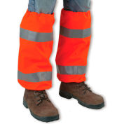 Ergodyne® GloWear® 8008 Hi-Vis Leg Gaiters, Orange, One Size - Pkg Qty 6